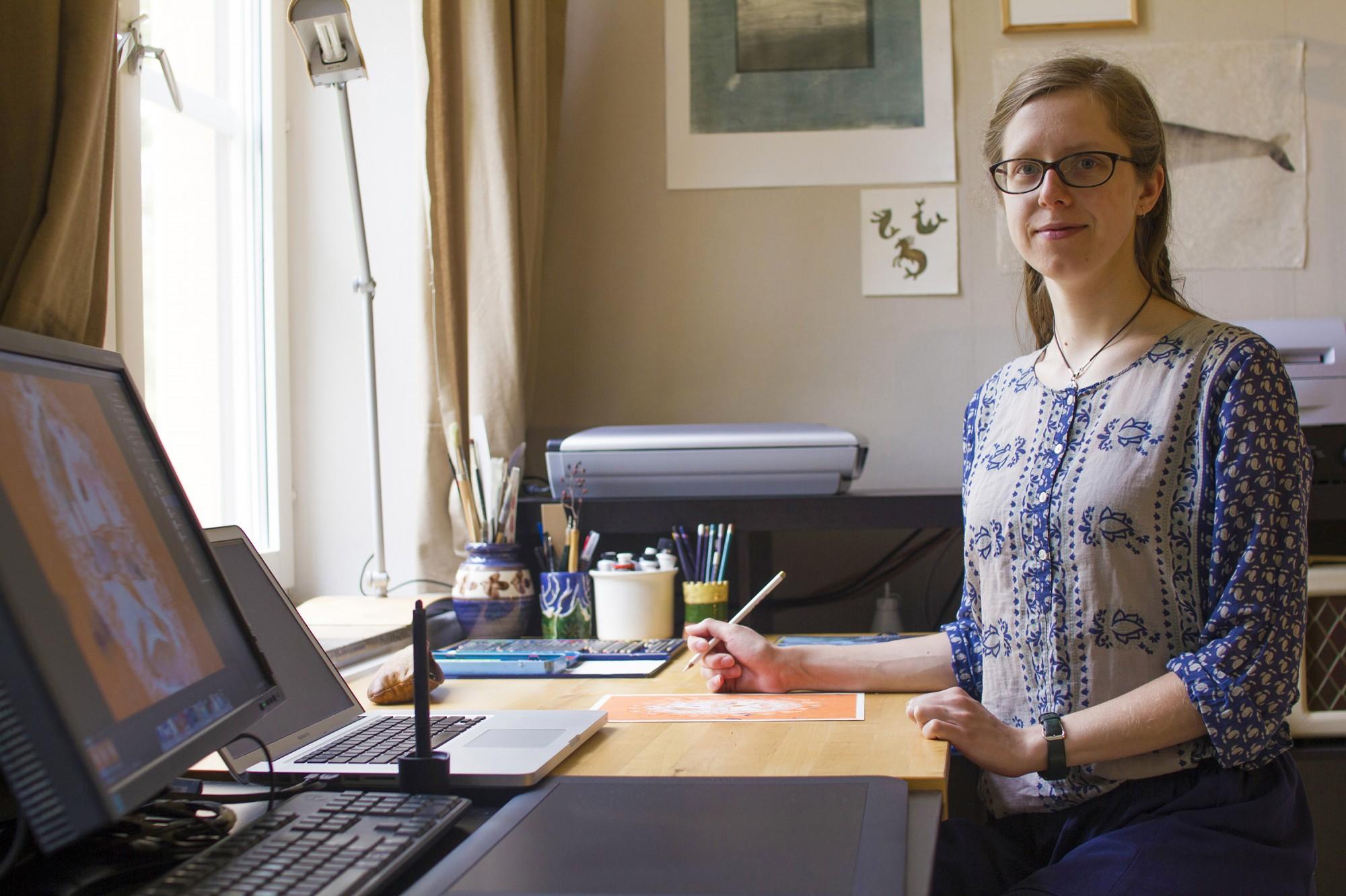Monika in her studio