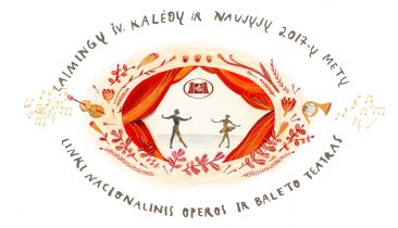 Greeting card for the Lithuanian National Opera