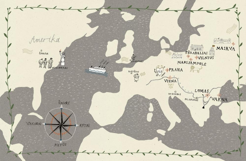 Illustration from Per balas link aušros. Pasakojimas apie daktaro Jono Basanavičiaus keliones ir darbus